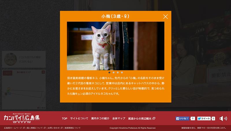 登場する猫のプロフィール紹介も